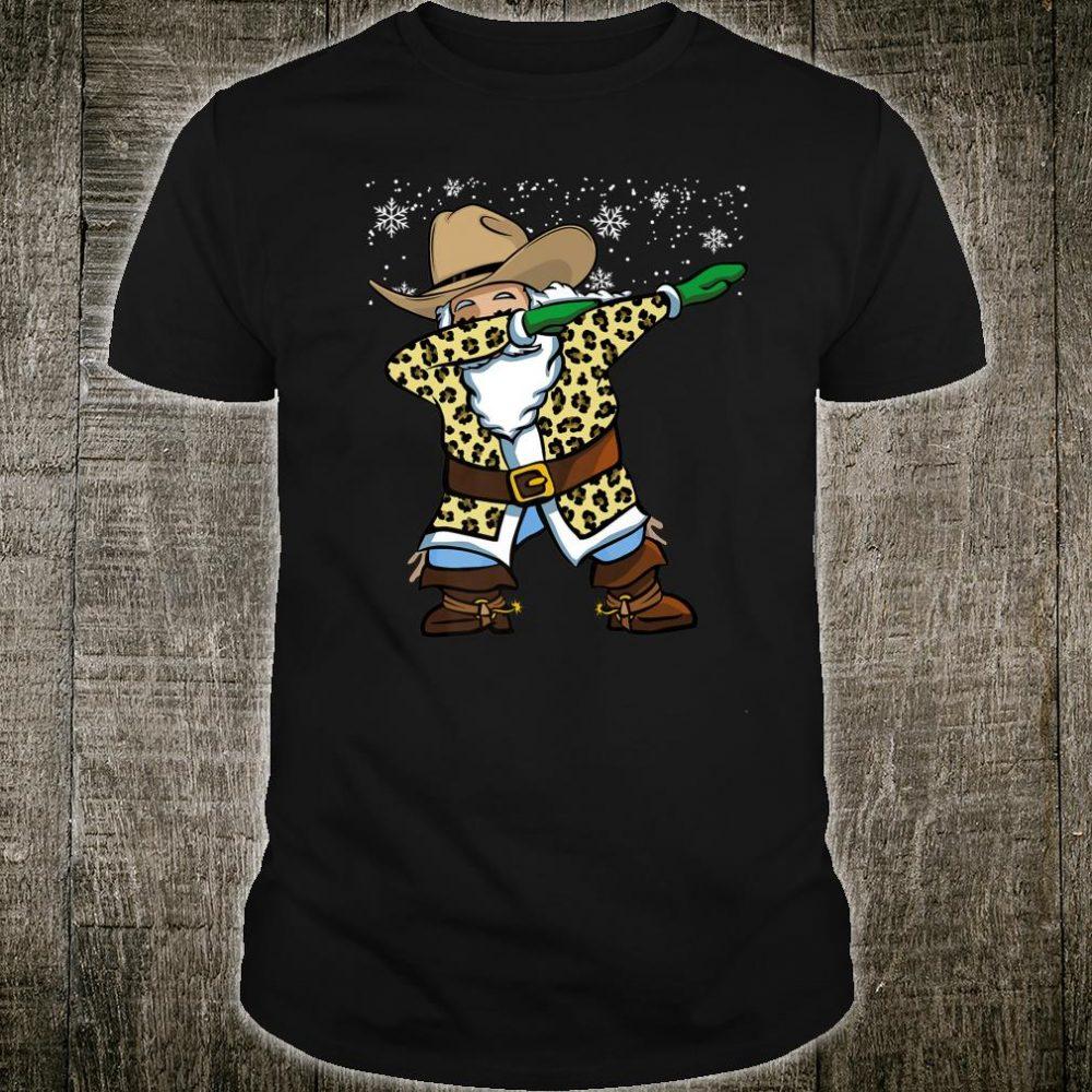 Leopard Christmas Santa Claus Xmas Shirt