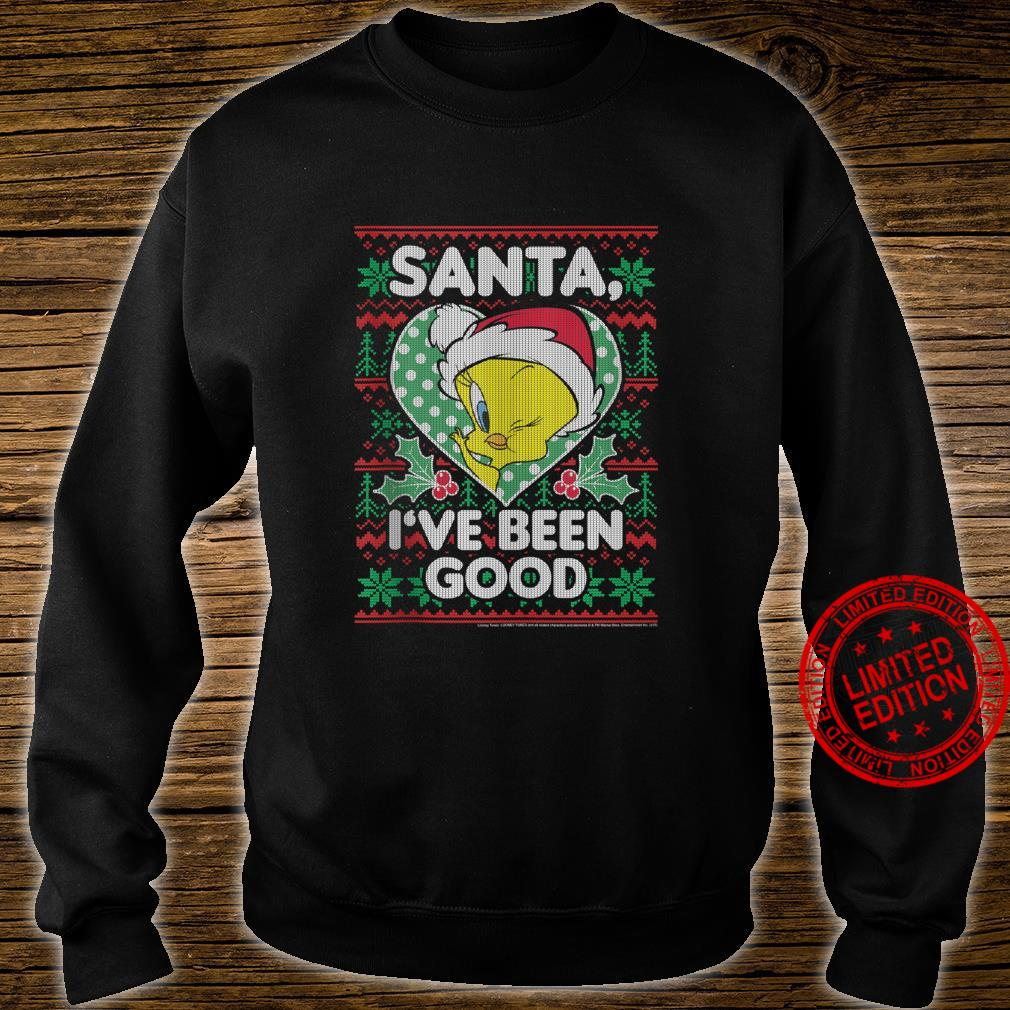 Looney Tunes Christmas Tweety Santa I've Been Good Shirt sweater