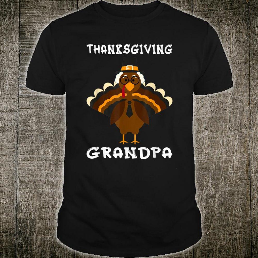 Mens Cute Grandpa Turkey Family Matching Thanksgiving Day Shirt