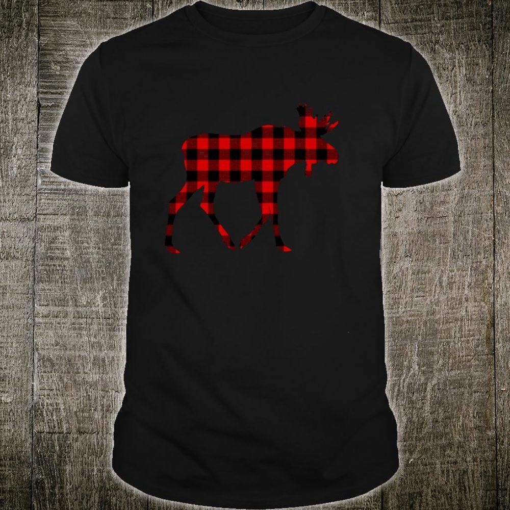 Moose Red Buffalo Plaid Deer Elk Matching Family PJ Shirt