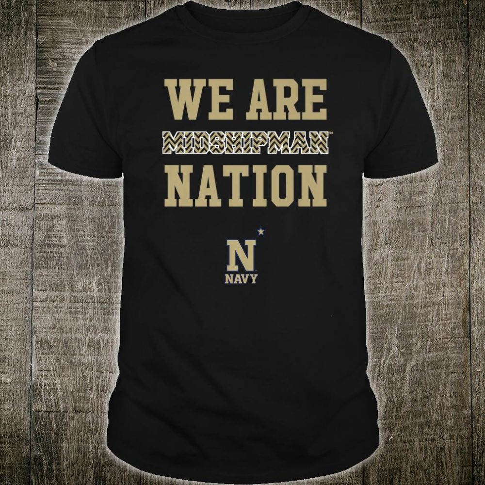 Navy Midshipmen We Are Nation Team Chevron Pattern Shirt