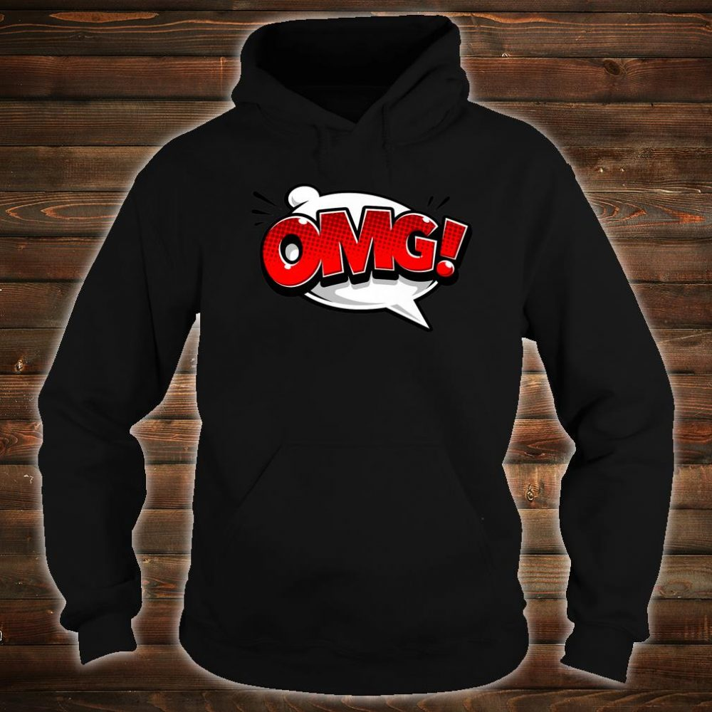 OMG Word Bubble Comic Books Shirt Oh My God Comic Art Shirt hoodie