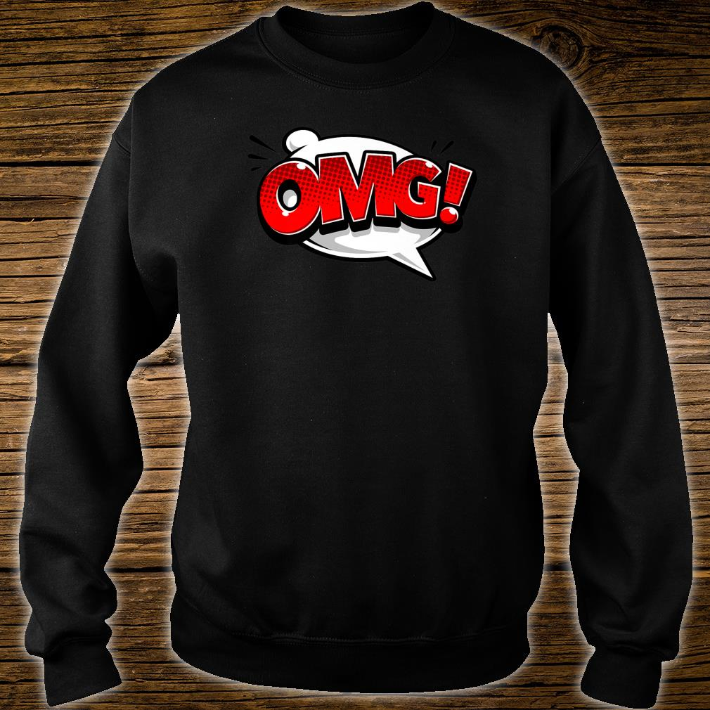 OMG Word Bubble Comic Books Shirt Oh My God Comic Art Shirt sweater