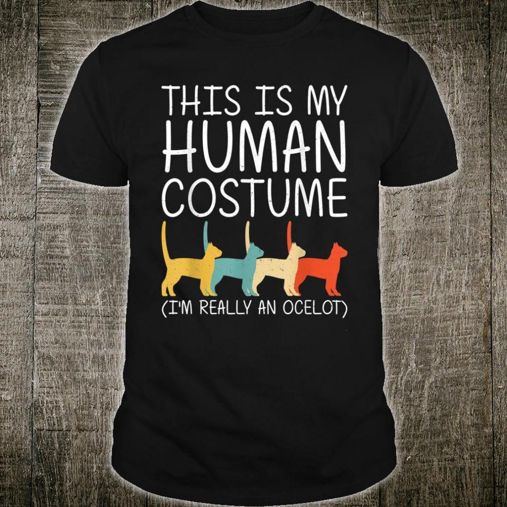 Ocelot Halloween Human Costume Wildcat Animal Easy DIY Shirt
