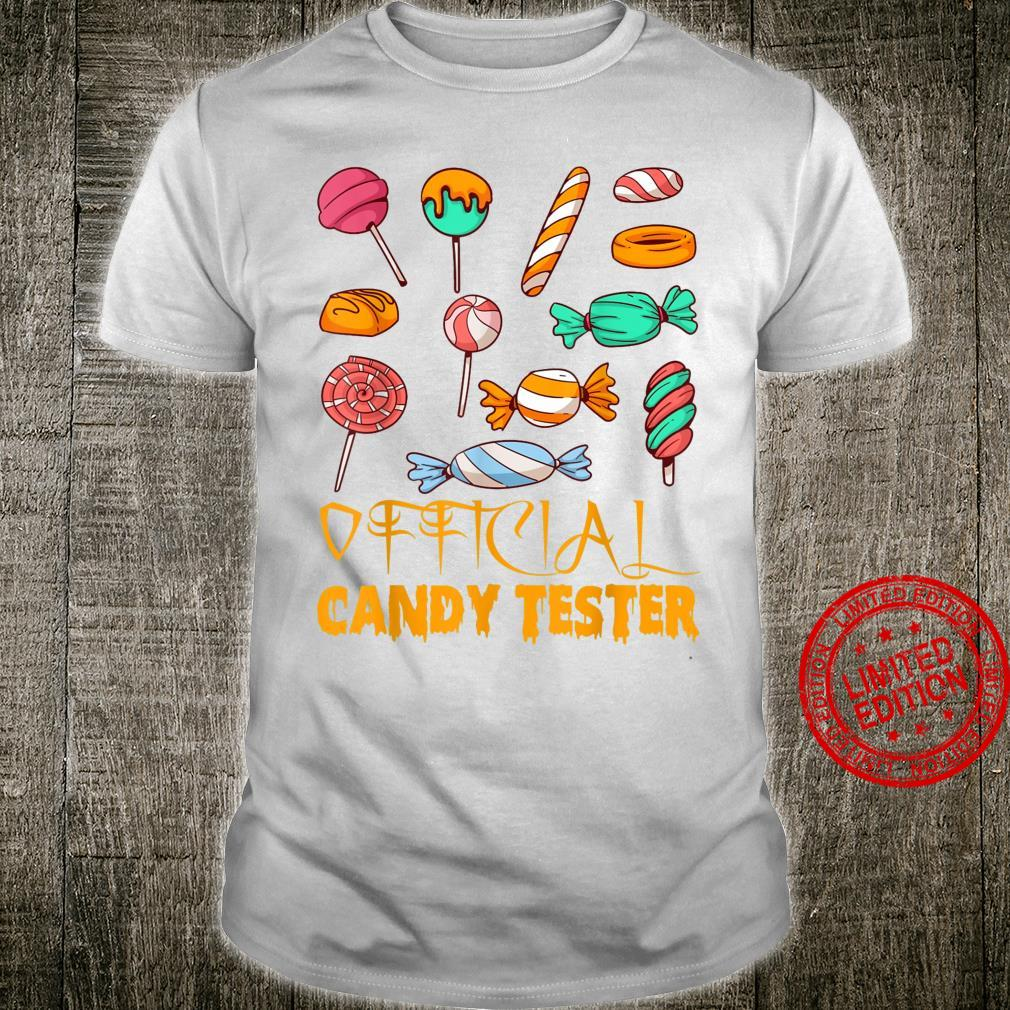 Official Candy Tester Ghostly Candy Halloween Shirt