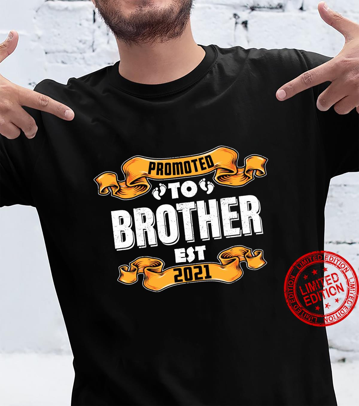 Promoted to Brother Est 2021 New Baby Reveal Shirt