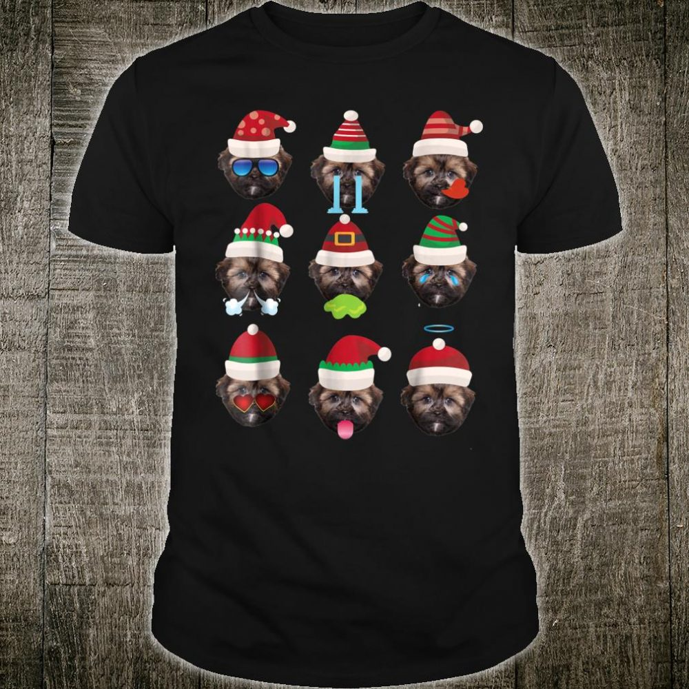 SHORKIE Dog Faces Santa Costume Merry Xmas Shirt