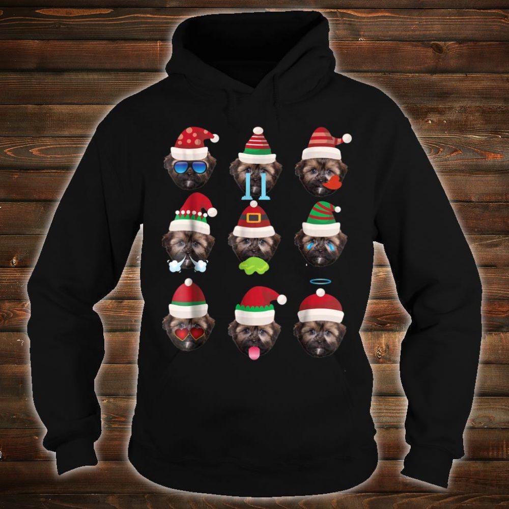 SHORKIE Dog Faces Santa Costume Merry Xmas Shirt hoodie