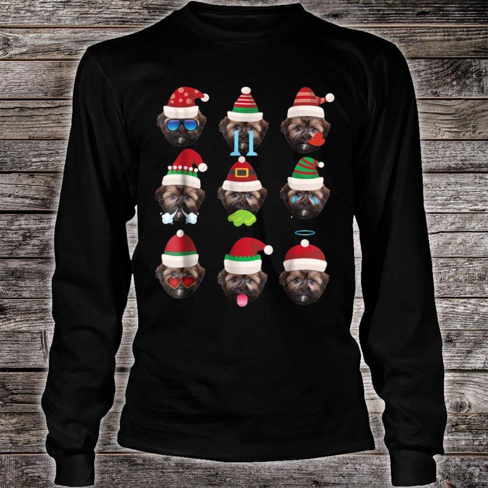 SHORKIE Dog Faces Santa Costume Merry Xmas Shirt long sleeved