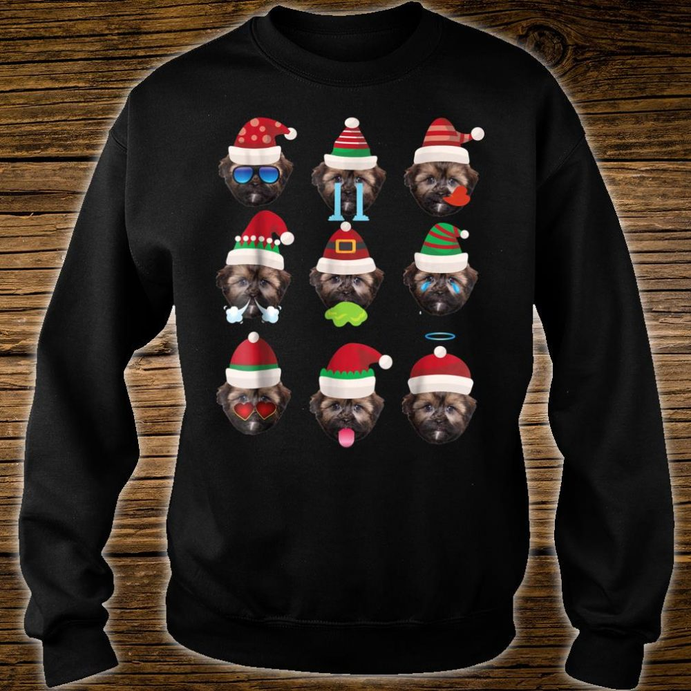SHORKIE Dog Faces Santa Costume Merry Xmas Shirt sweater