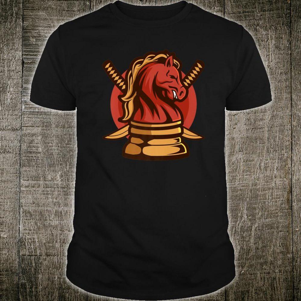 Samurai Chess Knight Checkers Game Player Ninja Katana Shirt