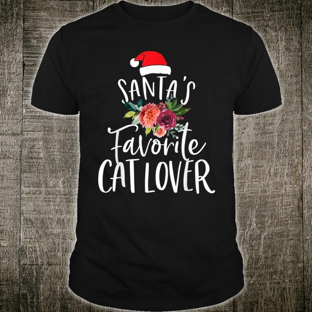 Santa's Favorite Cat Christmas Shirt