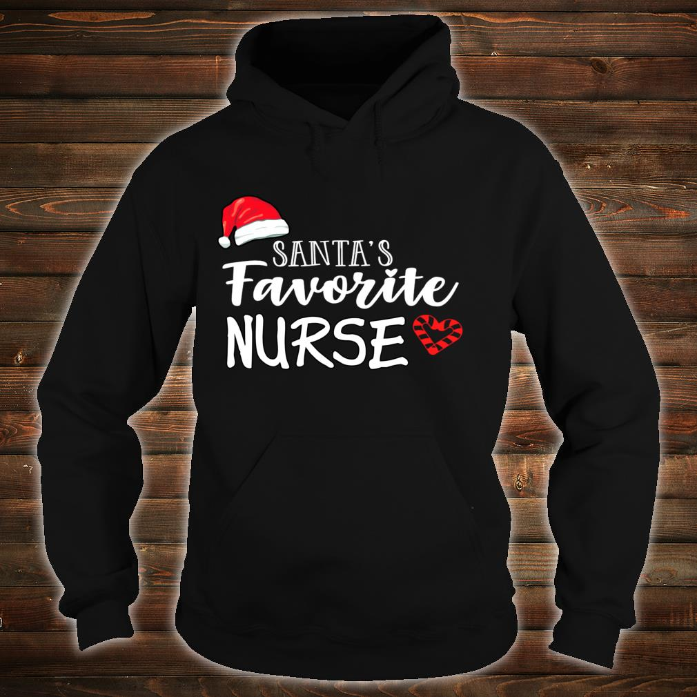 Santa's Favorite Nurse Christmas holiday nusre Shirt hoodie