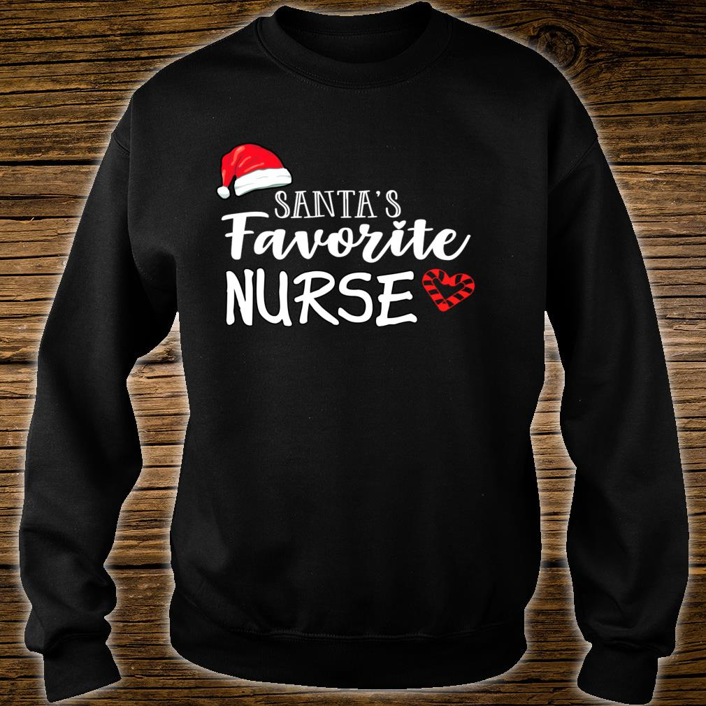 Santa's Favorite Nurse Christmas holiday nusre Shirt sweater