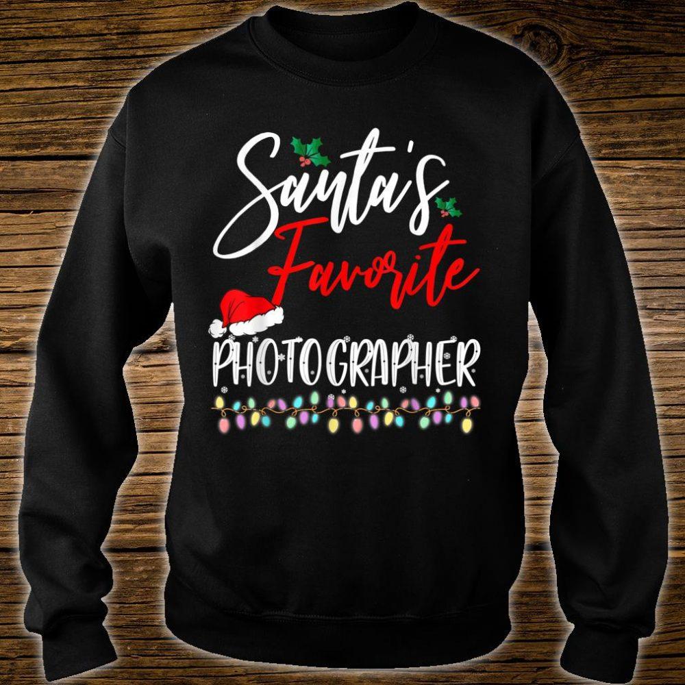 Santa's Favorite Photographer Santa Hat Christmas Lights Shirt sweater