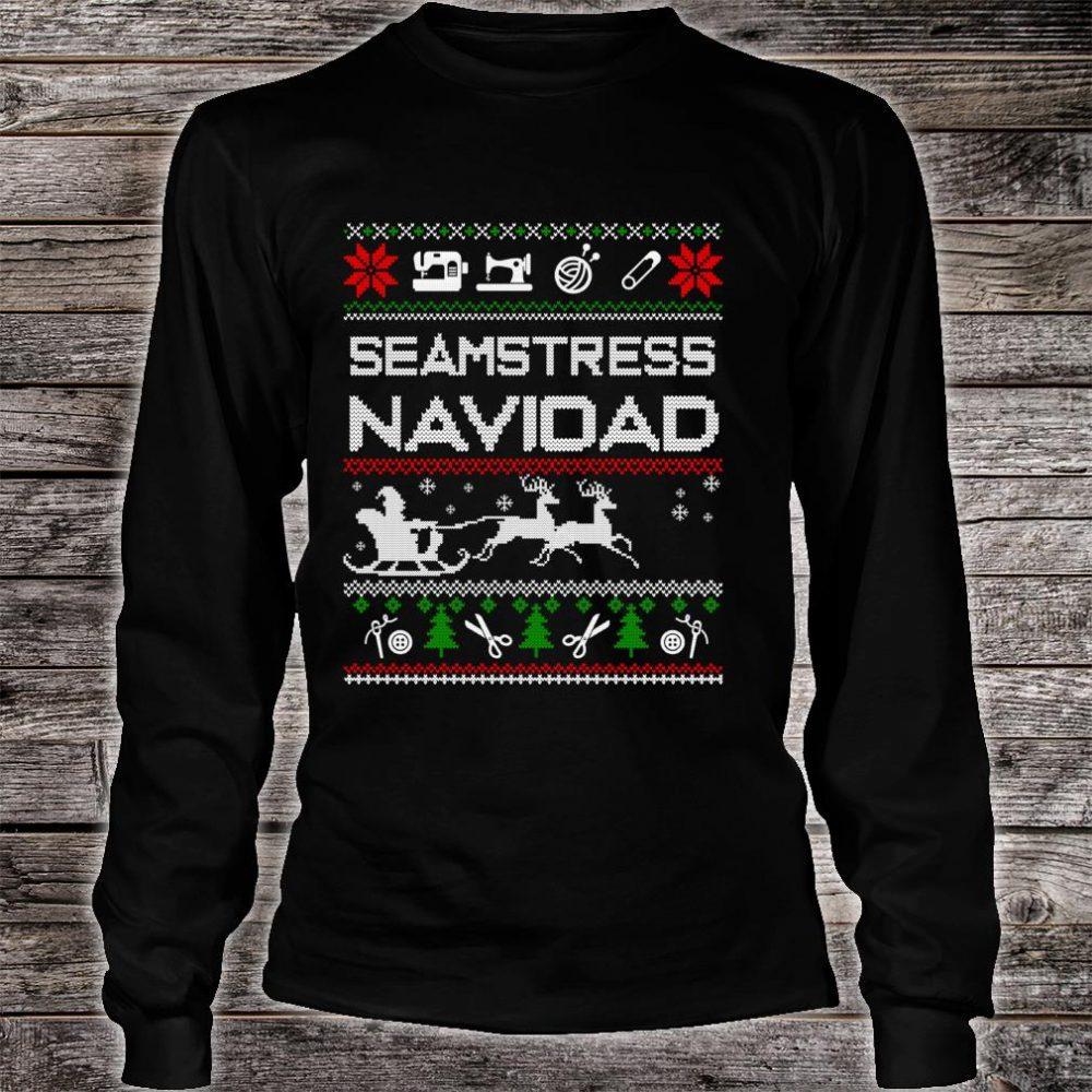 Seamstress Navidad Job Ugly Christmas Shirt long sleeved