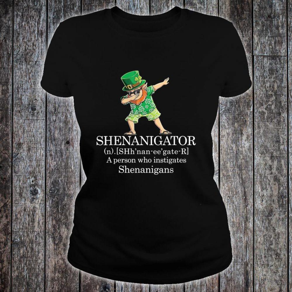 Shenanigans Shenanigator Saint Patricks Day Shirt ladies tee