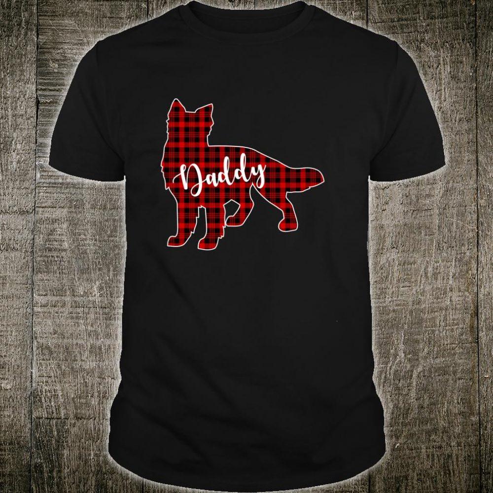 Shiloh Shepherd Christmas, Daddy Dog Buffalo Plaid Shirt