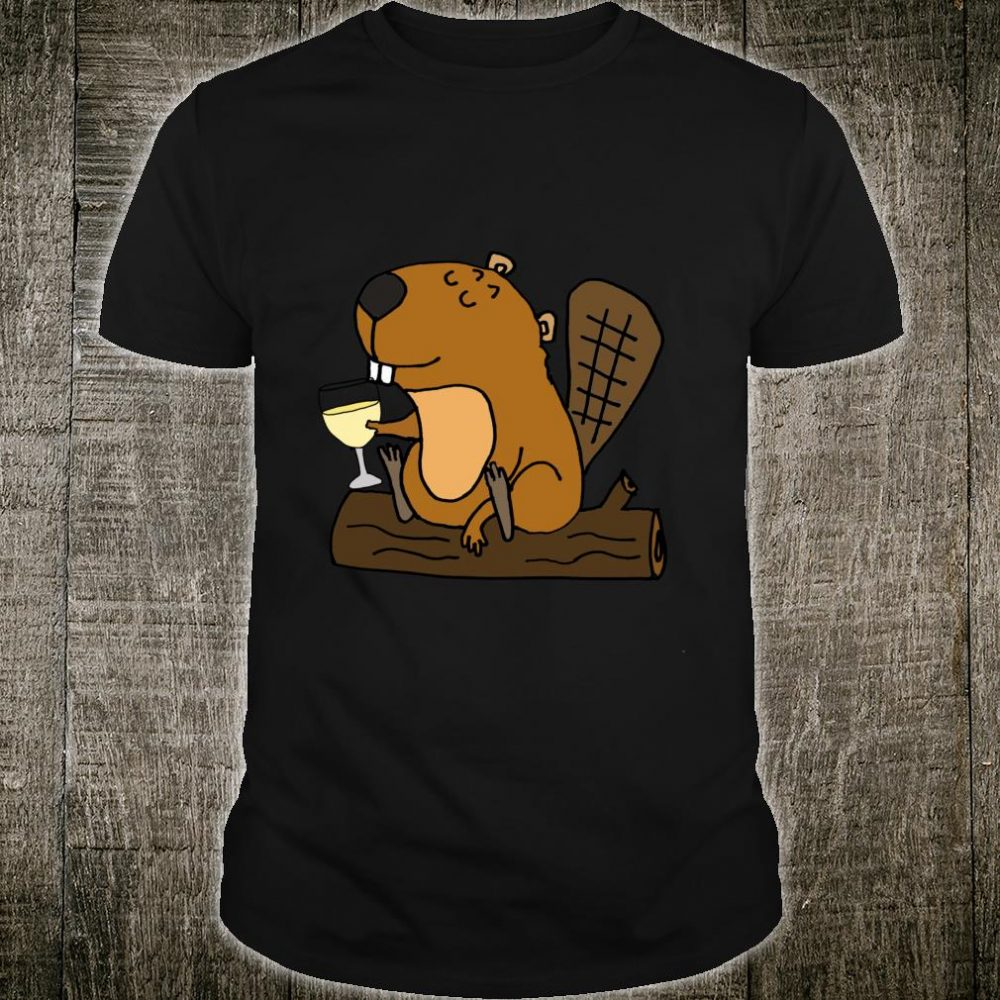 Smileteesanima Beaver Drinking Wine Shirt