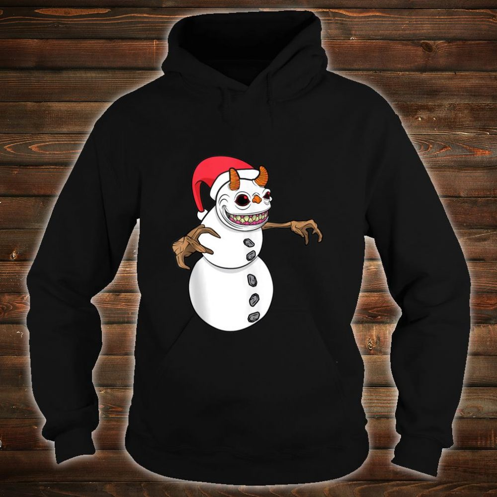 Snowman Krampus Christmas Halloween Horror Winter Demon Shirt hoodie