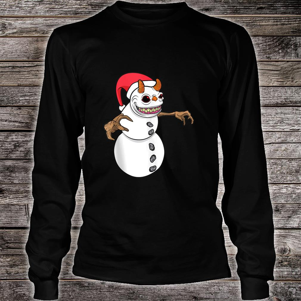 Snowman Krampus Christmas Halloween Horror Winter Demon Shirt long sleeved