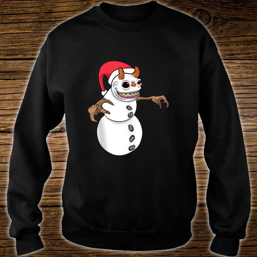 Snowman Krampus Christmas Halloween Horror Winter Demon Shirt sweater