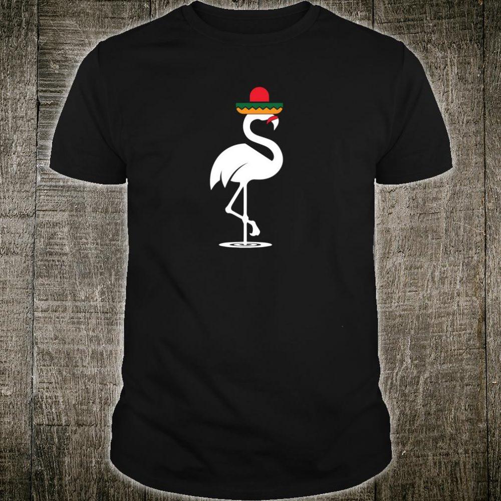 Sombrero Mustache Flamingo Cinco De Mayo Pride Humor Shirt