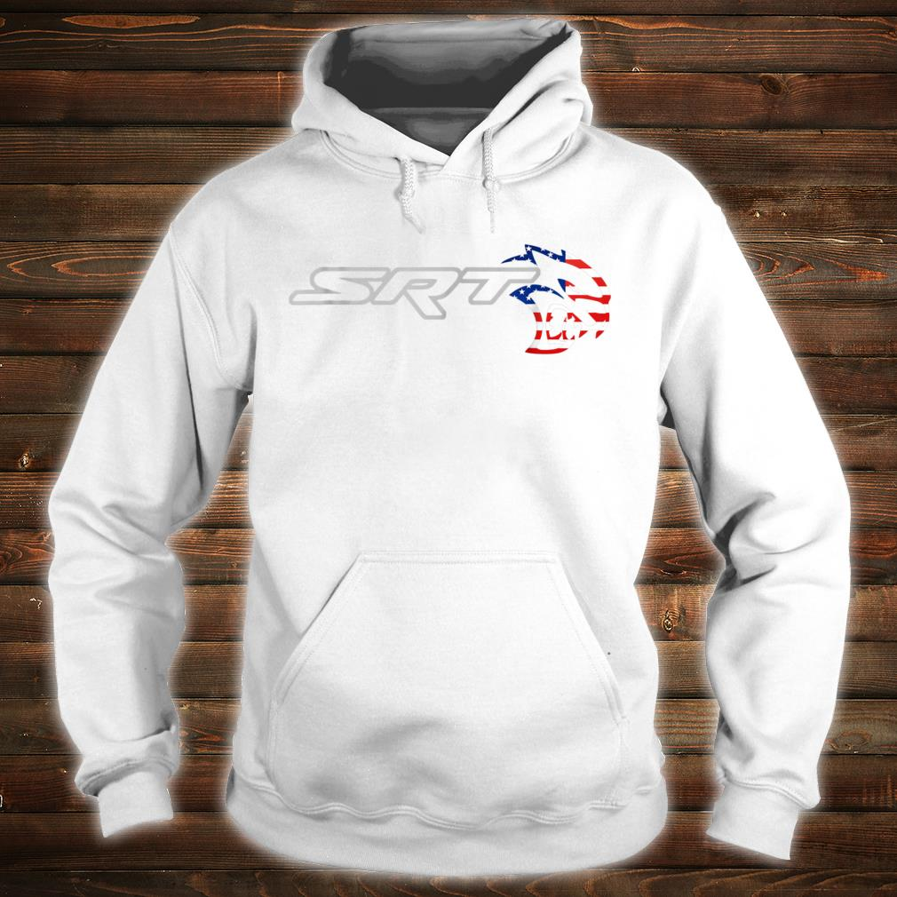Srt Hell cat Dodge Shirt (H) Flag US Silver Awesome Shirt hoodie