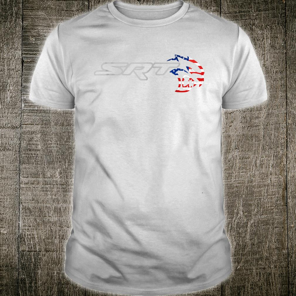 Srt Hell cat Dodge Shirt (H) Flag US Silver Awesome Shirt