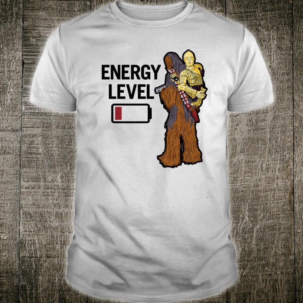 Star Wars Chewbacca C3PO Energy Level Low Shirt