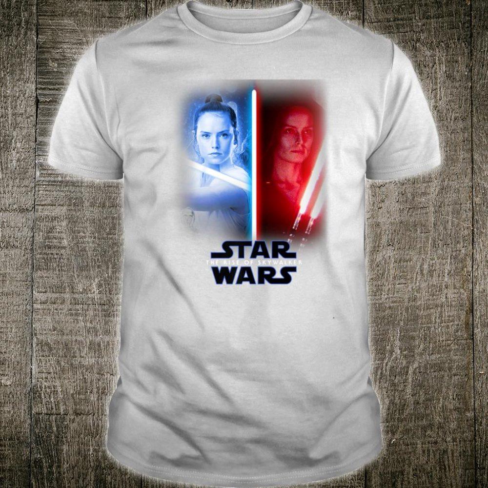 Star Wars The Rise Of Skywalker Rey Vertical Split Shirt