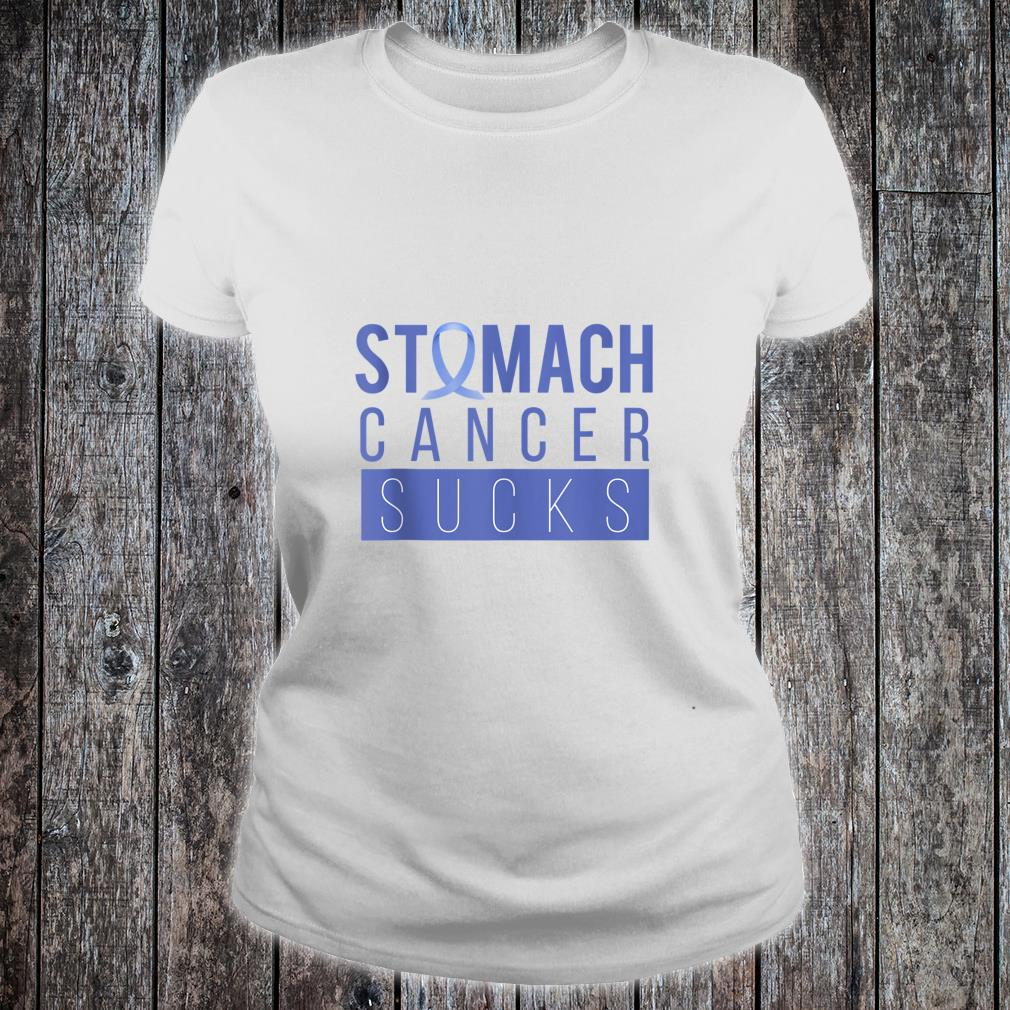 Stomach Ribbon Periwinkle Awareness Quote I Chemo Cancer Shirt ladies tee