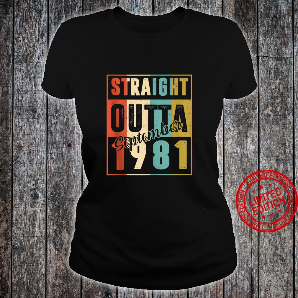 Straight Outta September 1981 Retro 39 Year Old 39th Bday Shirt ladies tee