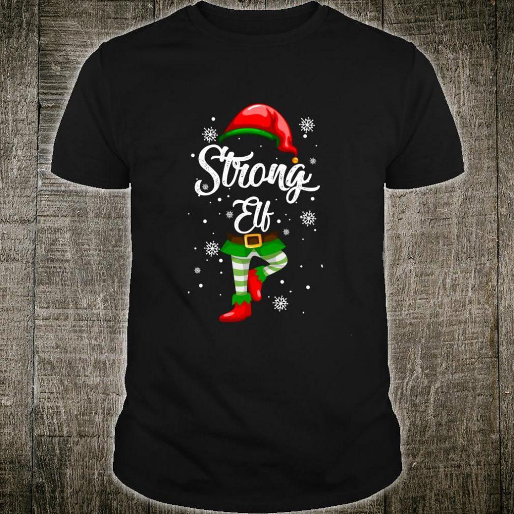 Strong Elf Christmas Costume Pajamas Elves Shirt