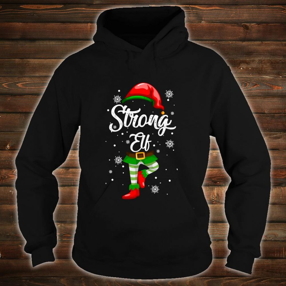 Strong Elf Christmas Costume Pajamas Elves Shirt hoodie