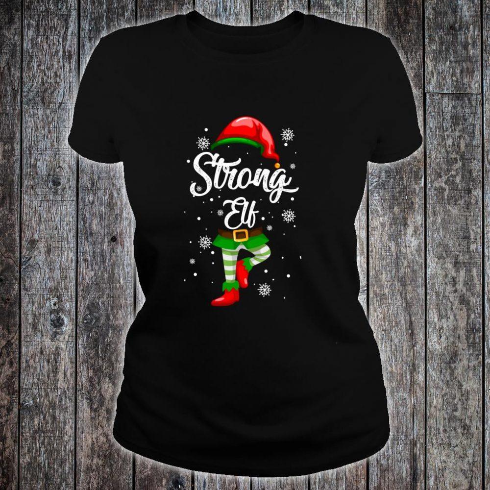 Strong Elf Christmas Costume Pajamas Elves Shirt ladies tee