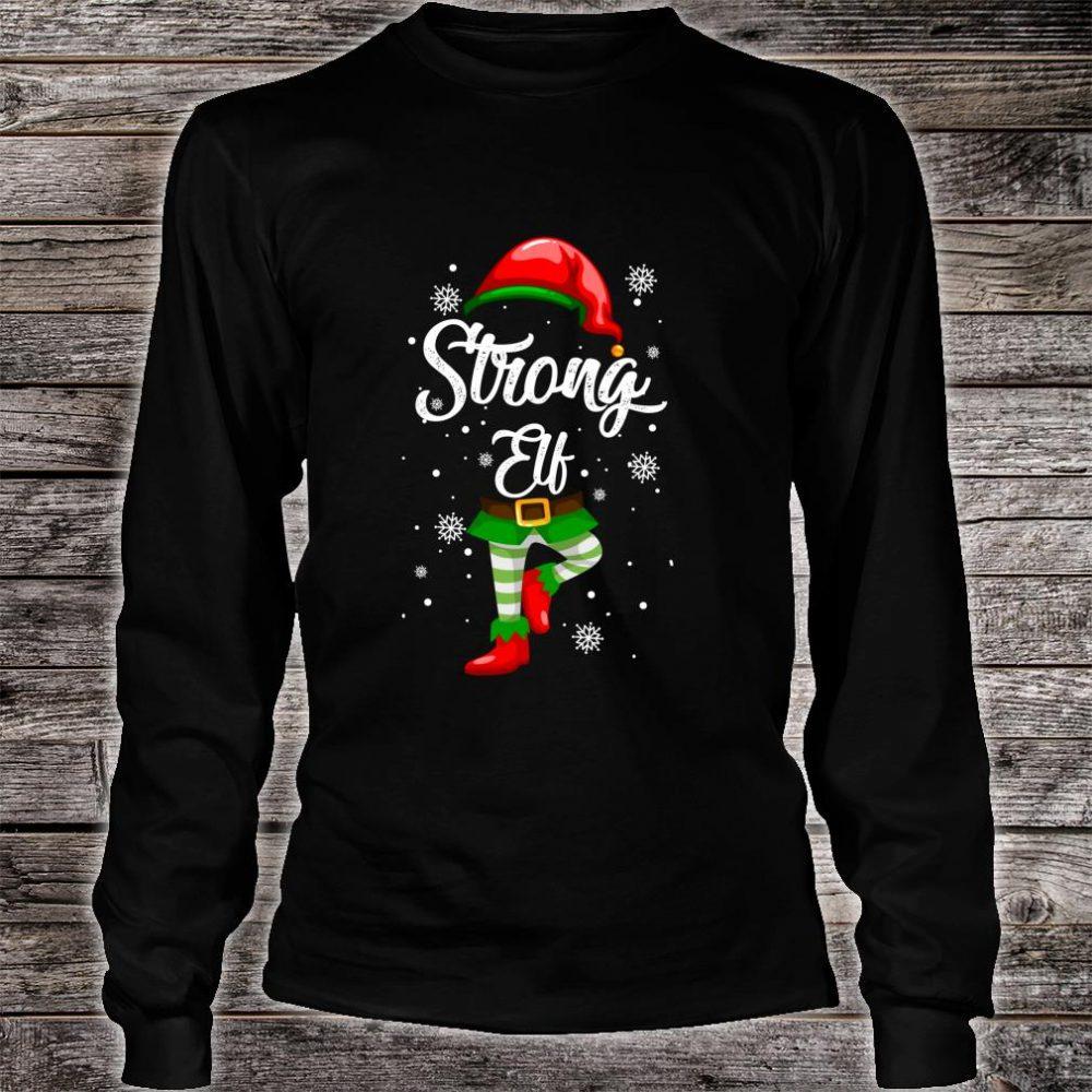 Strong Elf Christmas Costume Pajamas Elves Shirt long sleeved