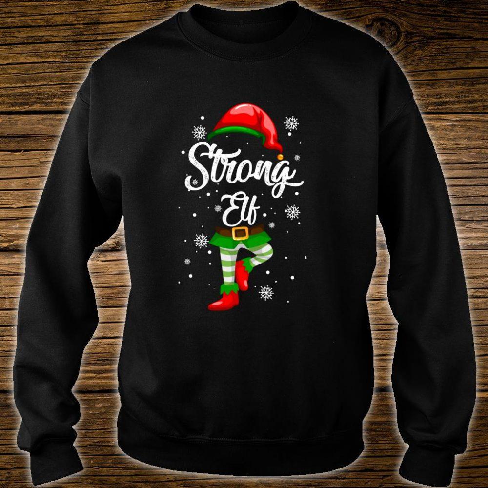 Strong Elf Christmas Costume Pajamas Elves Shirt sweater