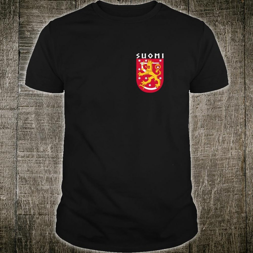 Suomi Finnish Coat Of Arms Souvenir Cool Republic Of Finland Shirt