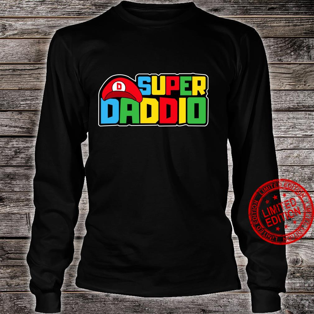 Super Daddio Video Gamer Dad Birthday Fathers Day Shirt long sleeved