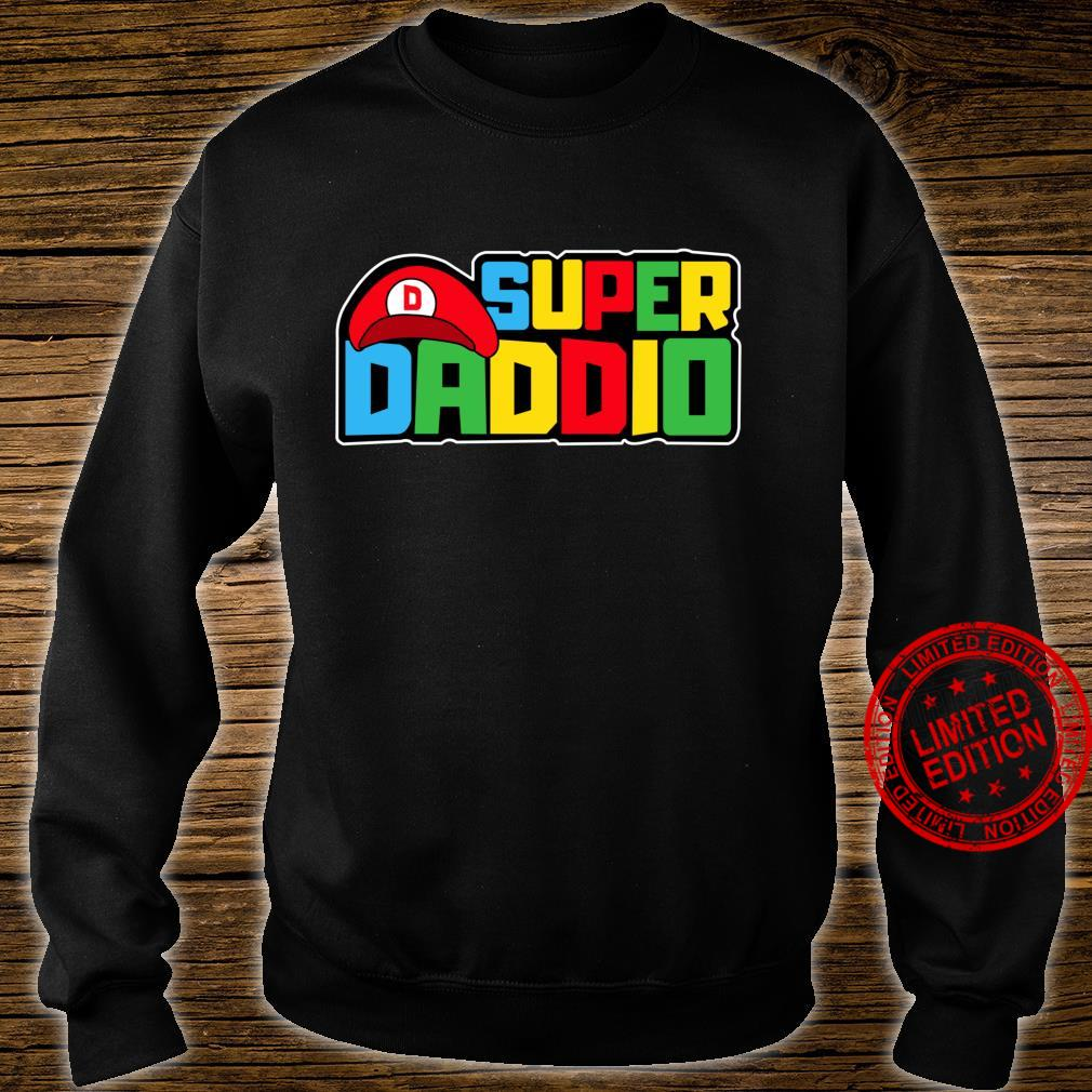 Super Daddio Video Gamer Dad Birthday Fathers Day Shirt sweater