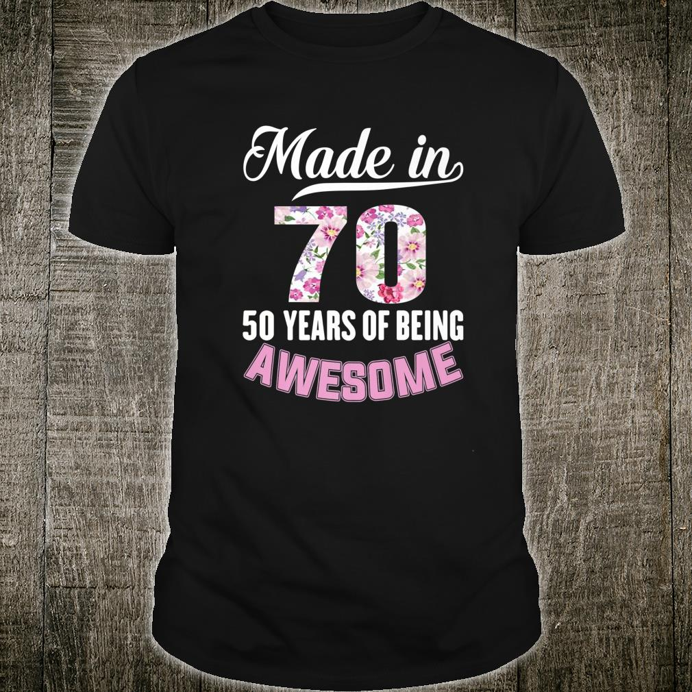 Sweet Fifty Floral 50th Birthday Shirt