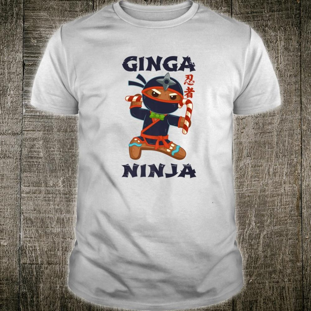 Team Ginger Ninja Gingerbread Man Redhead Christmas Shirt