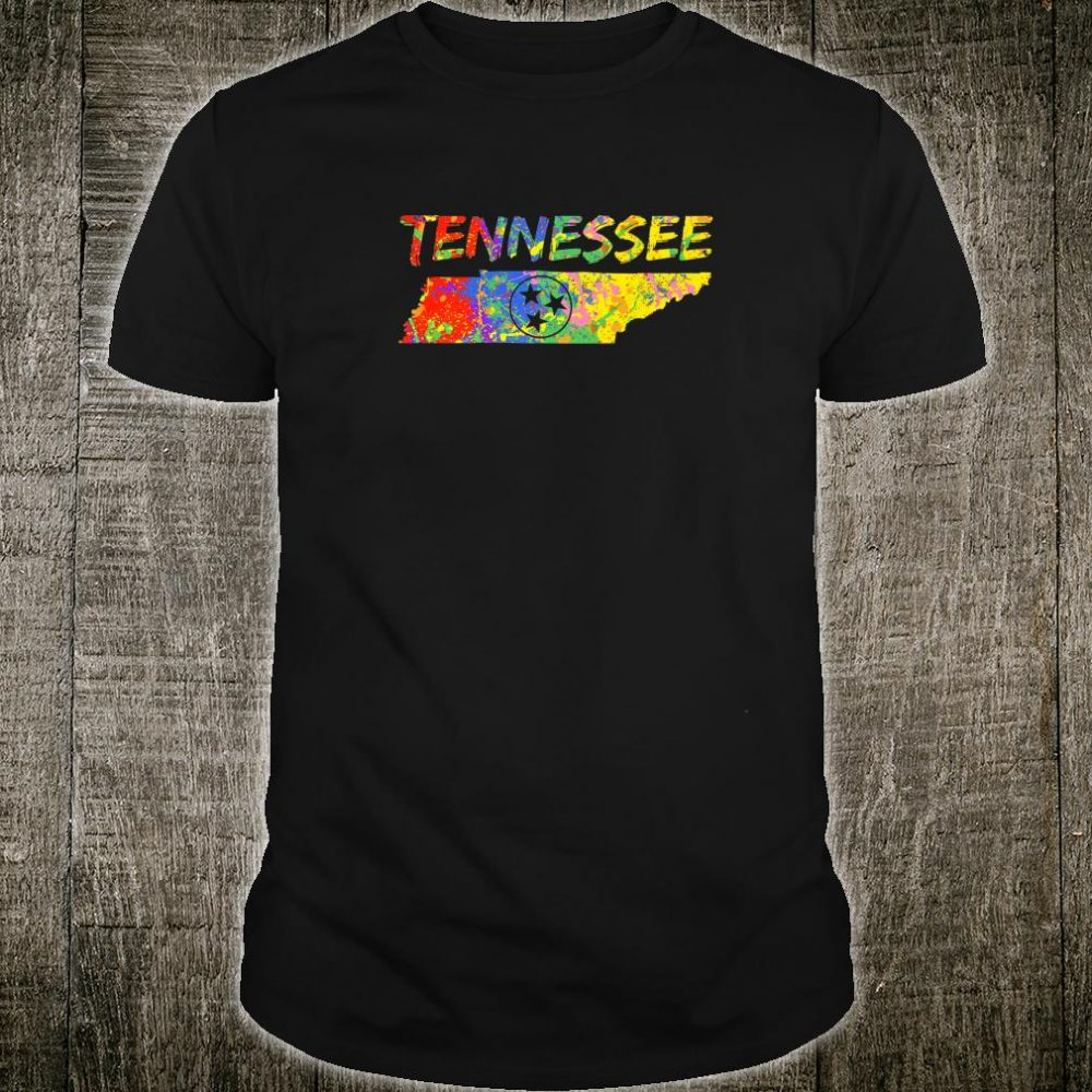 Tennessee State Outline Colorful TN Flag Artwork Tennessee Shirt