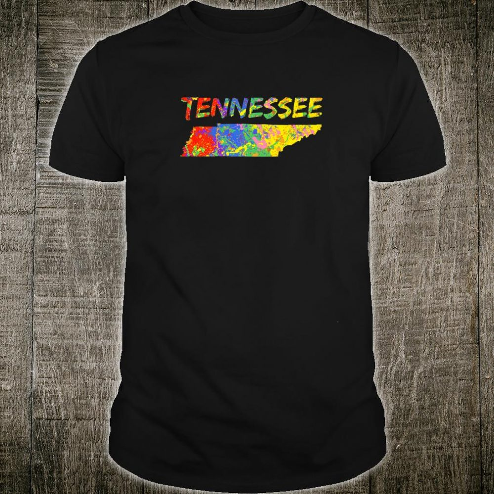 Tennessee State Outline Colorful TN Paint Artwork Tennessee Shirt