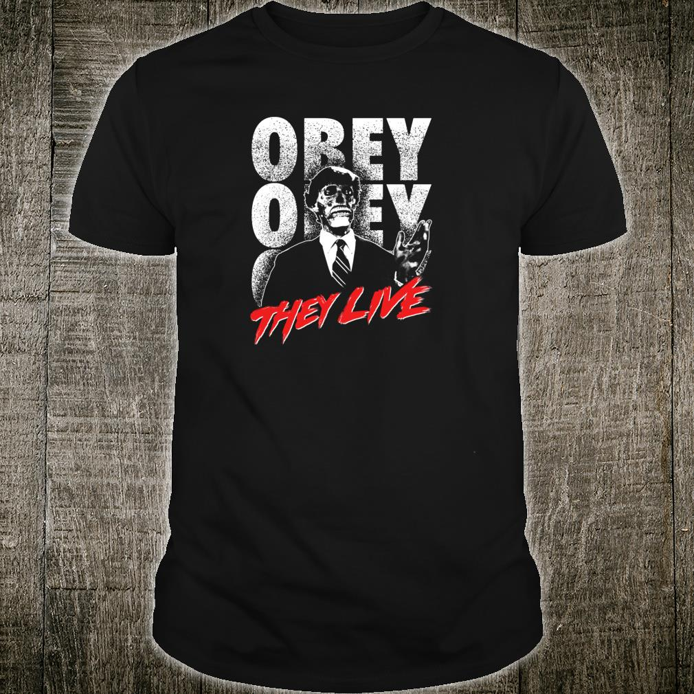 They Live Alien Obey Title Logo Shirt