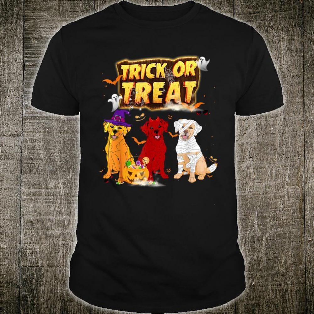 Three Labrador Retriever Candy Pumpkin Halloween Shirt