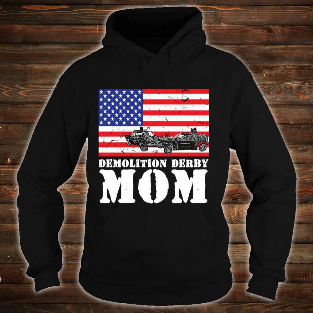 USA American Distressed Flag Demolition Derby Mom Her Shirt hoodie