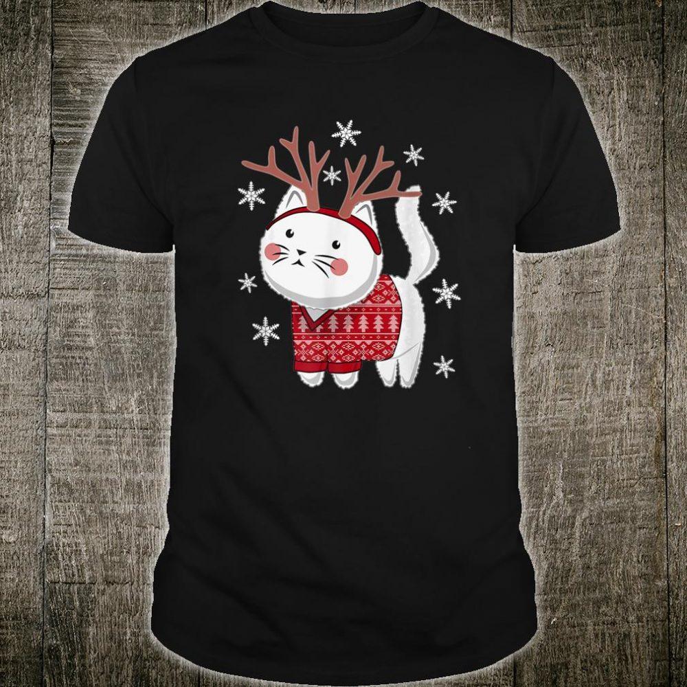Ugly Christmas Cat Deer Shirt