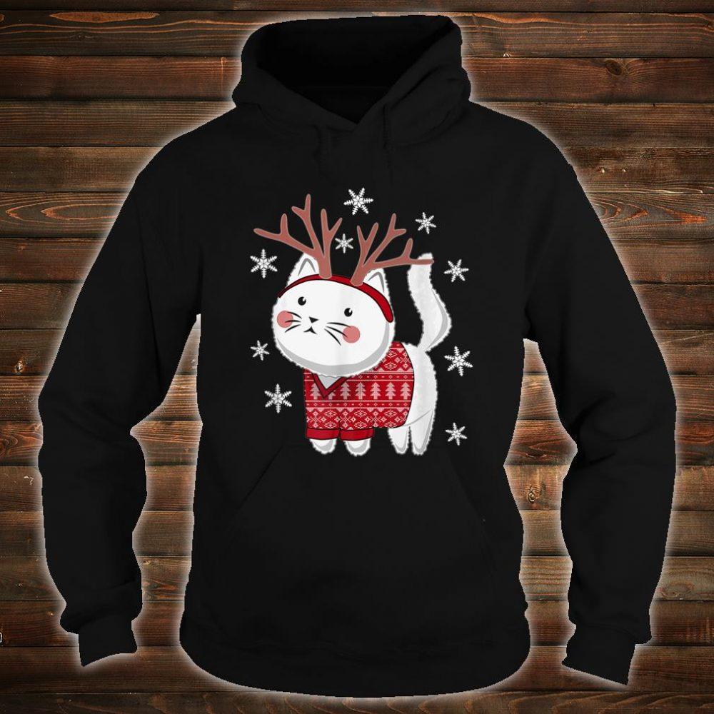 Ugly Christmas Cat Deer Shirt hoodie